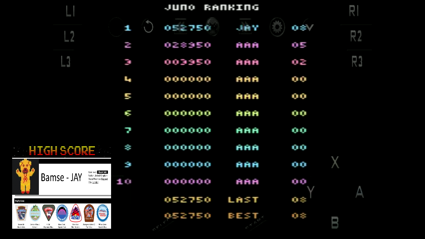 Bamse: Juno First (Atari 2600 Emulated Novice/B Mode) 52,750 points on 2019-10-23 11:49:45
