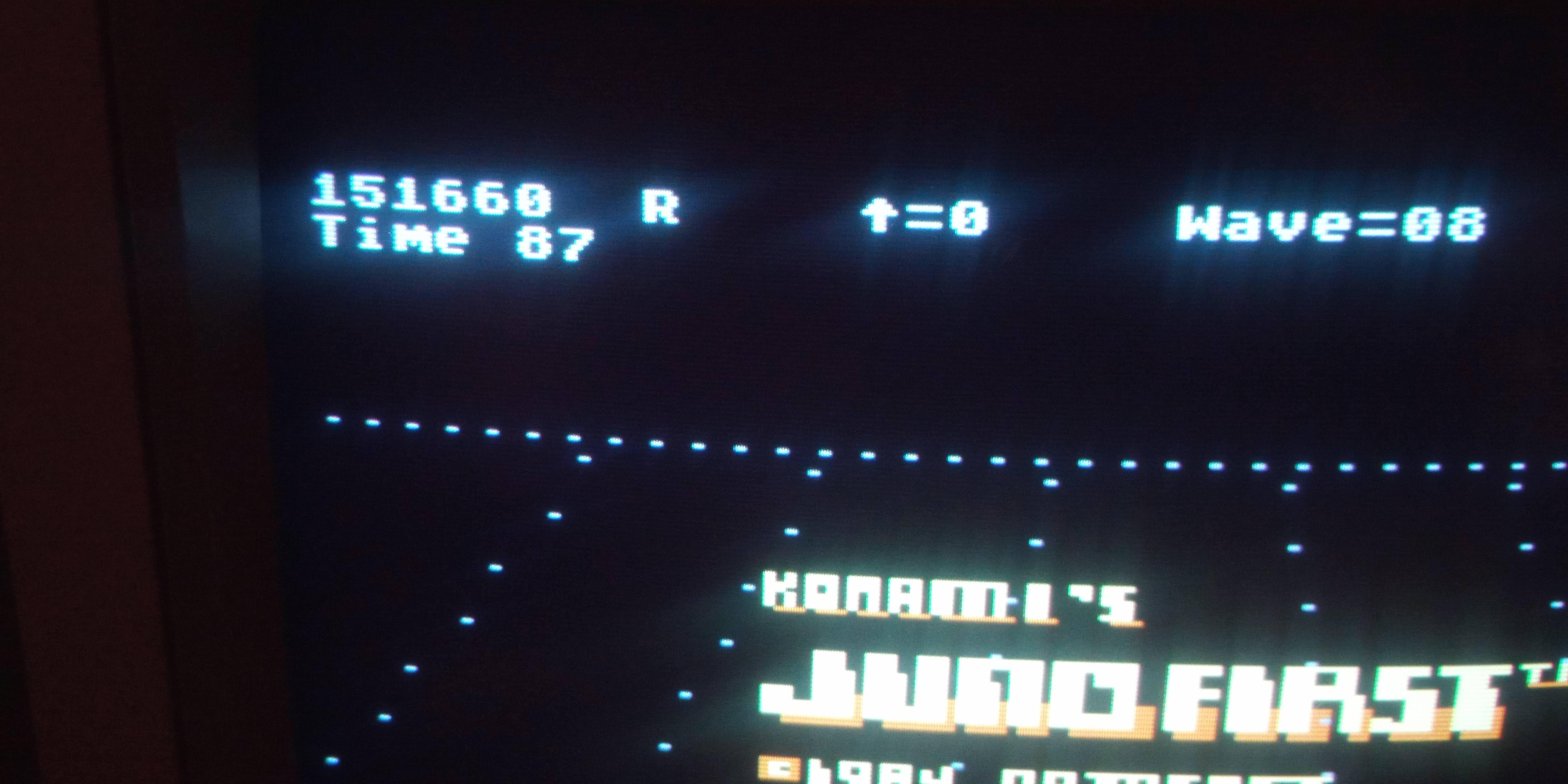 Bunsen: Juno First (Atari 400/800/XL/XE) 151,660 points on 2020-12-30 15:56:06