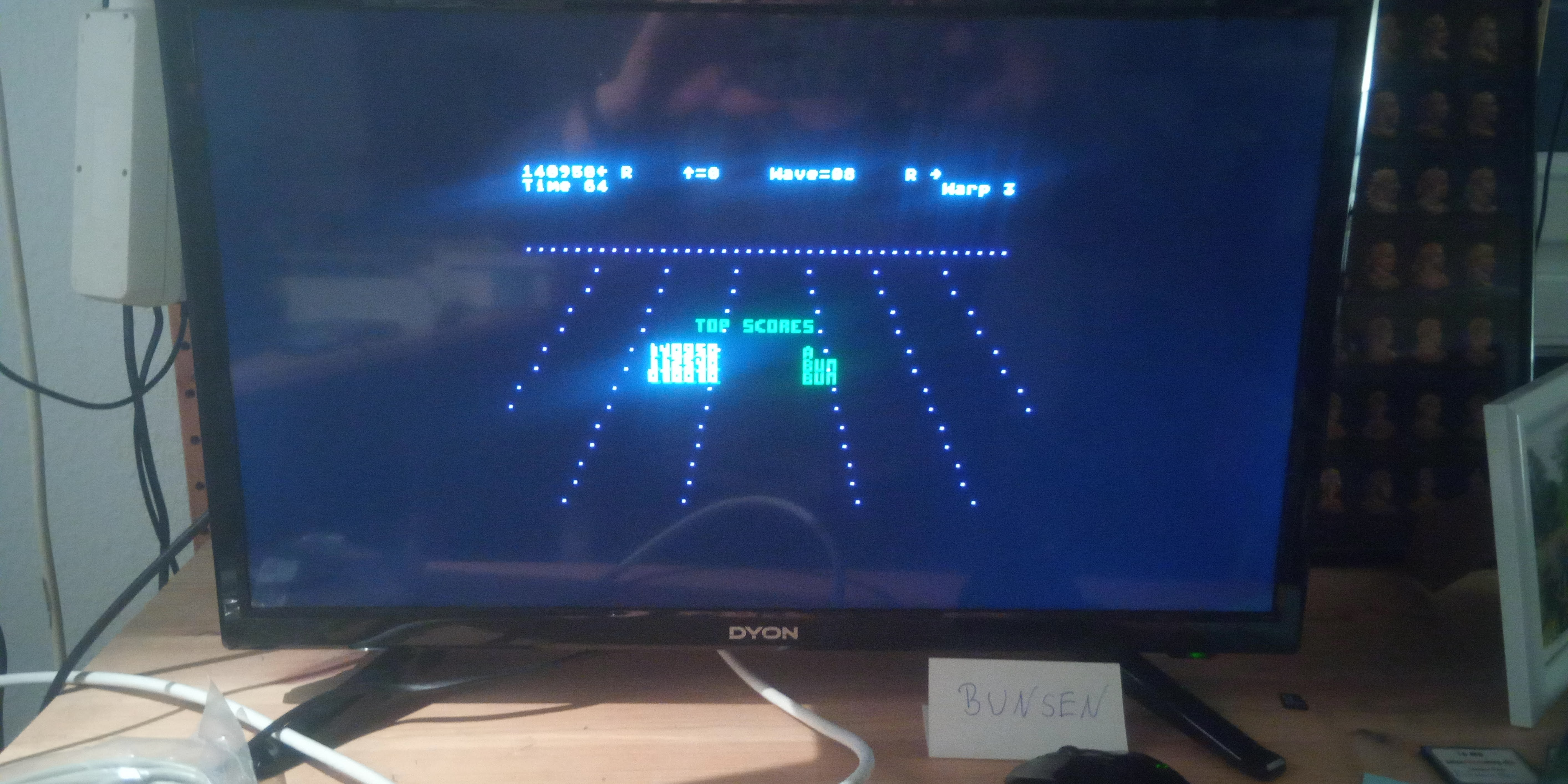 Bunsen: Juno First (Atari 400/800/XL/XE Emulated) 140,950 points on 2020-12-30 15:58:12