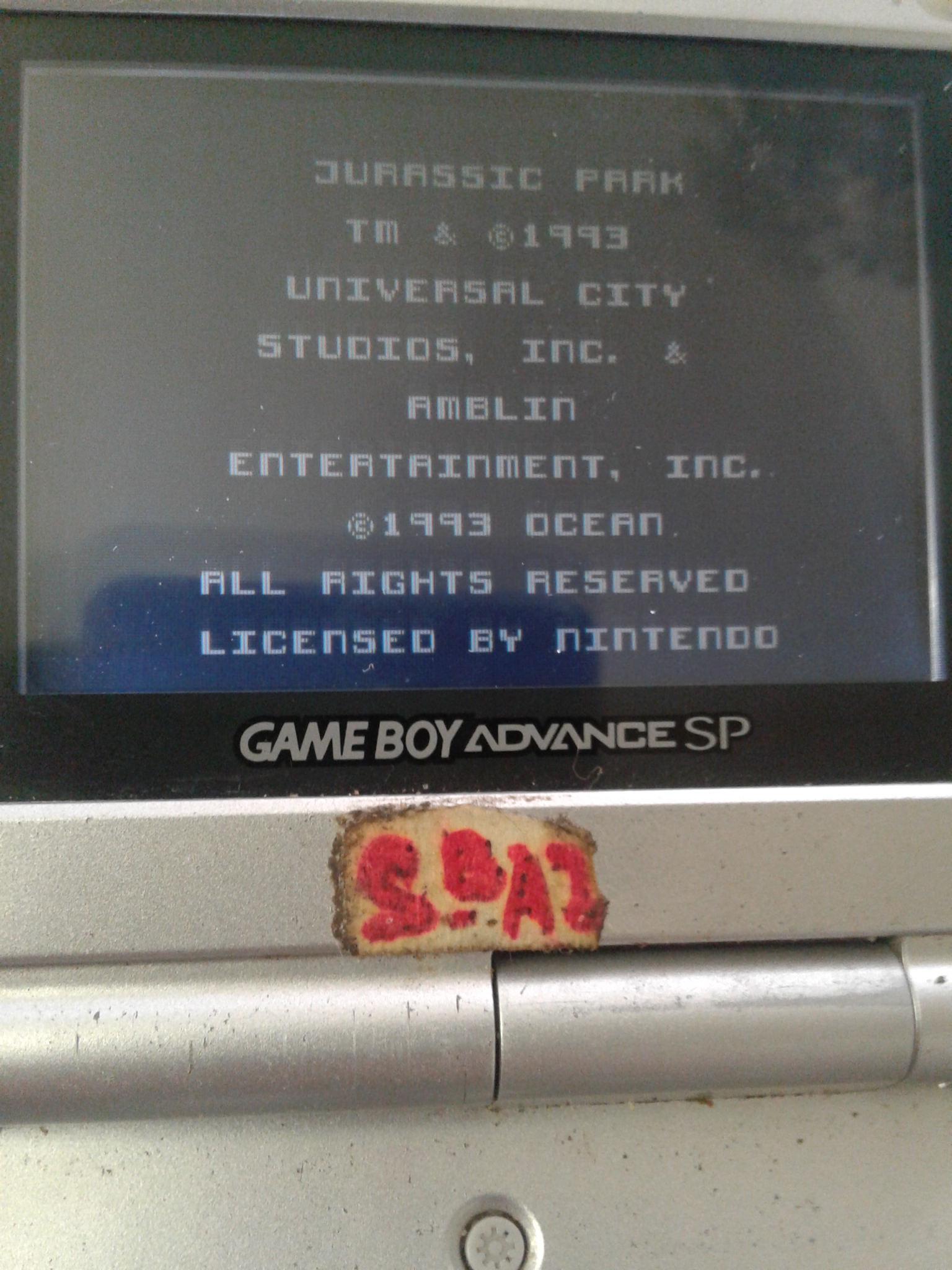 S.BAZ: Jurassic Park (Game Boy) 240 points on 2020-03-19 00:39:33