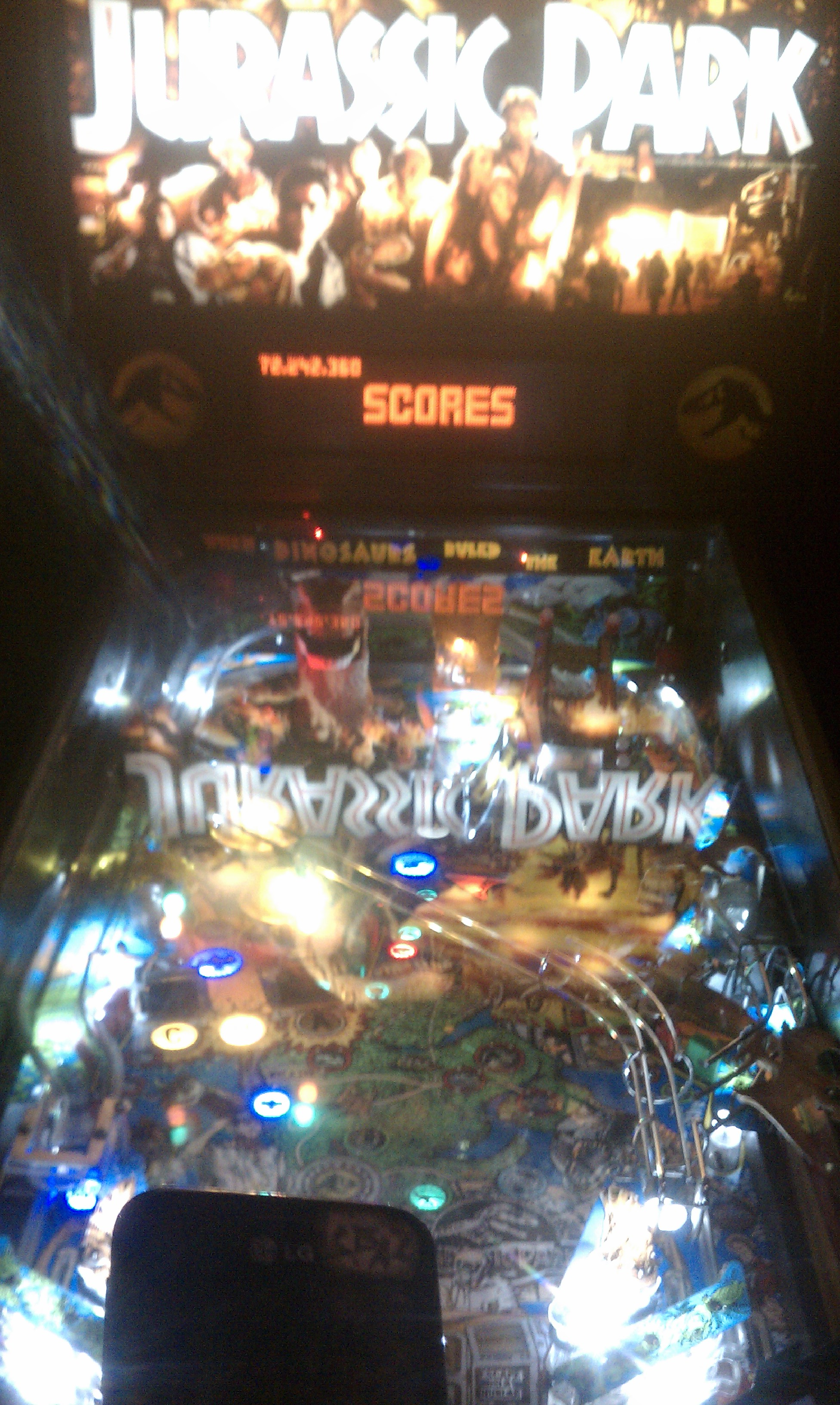 S.BAZ: Jurassic Park (Pinball: 5 Balls) 72,242,360 points on 2017-01-20 00:29:35