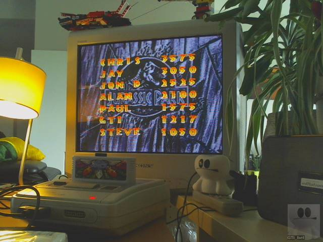 GTibel: Jurassic Park (SNES/Super Famicom) 1,217 points on 2019-08-19 11:29:07