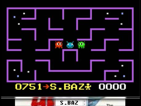 S.BAZ: K.C. Munchkin: Maze 1 (Atari 7800 Emulated) 751 points on 2016-02-25 03:28:18