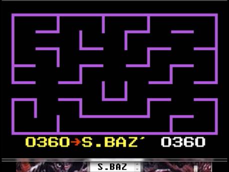 S.BAZ: K.C. Munchkin: Maze 1 [Invisible] (Atari 7800 Emulated) 360 points on 2016-02-25 04:37:32