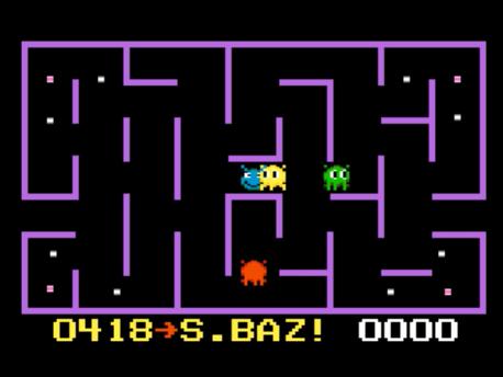 S.BAZ: K.C. Munchkin: Maze 2 (Atari 7800 Emulated) 418 points on 2016-02-19 00:09:51