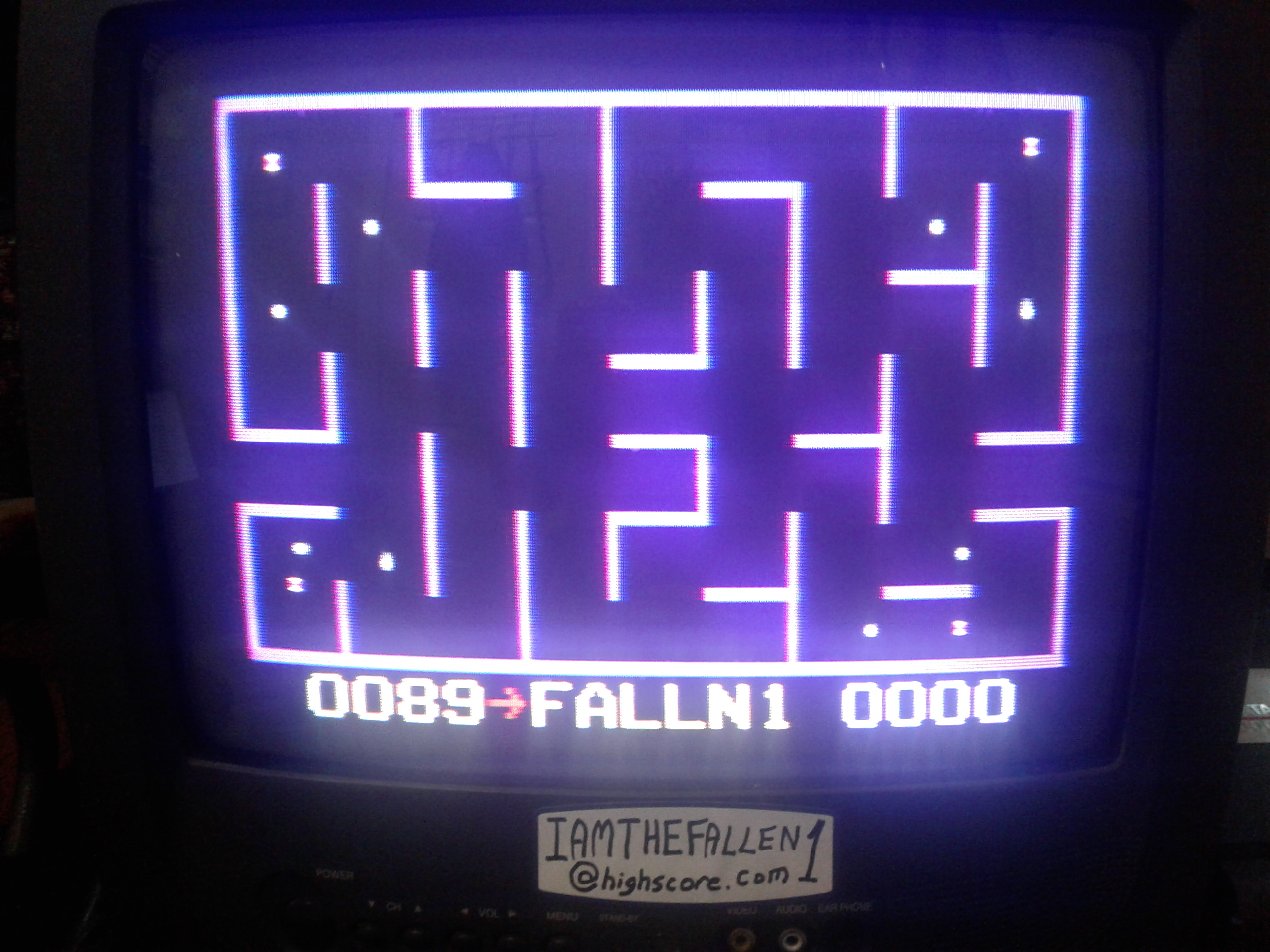 iamthefallen1: K.C. Munchkin: Maze 2 (Atari 7800) 89 points on 2017-11-15 00:02:43
