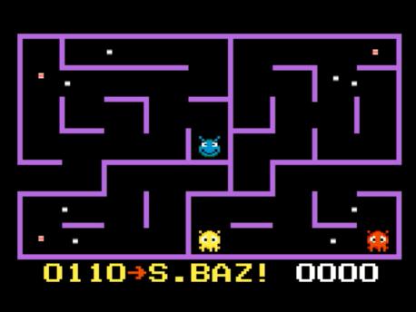 S.BAZ: K.C. Munchkin: Maze 3 (Atari 7800 Emulated) 110 points on 2016-02-19 00:17:04