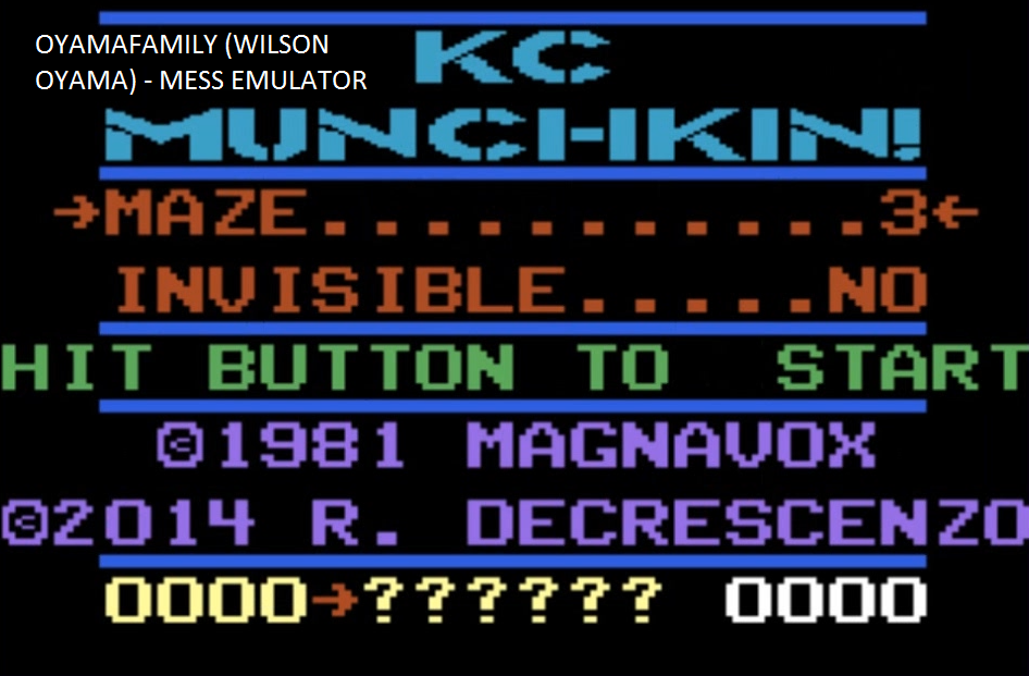 oyamafamily: K.C. Munchkin: Maze 3 (Atari 7800 Emulated) 130 points on 2016-03-27 19:15:39