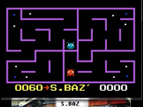 S.BAZ: K.C. Munchkin: Maze 3 [Invisible] (Atari 7800 Emulated) 60 points on 2016-02-19 00:02:10