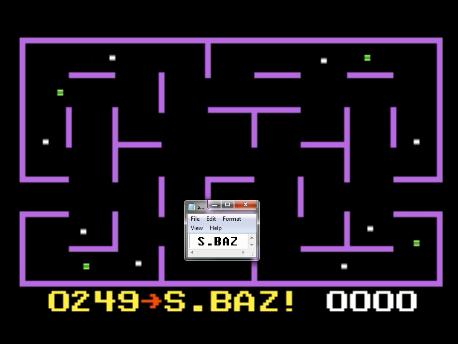 S.BAZ: K.C. Munchkin: Maze 4 (Atari 7800 Emulated) 249 points on 2016-02-19 00:23:18