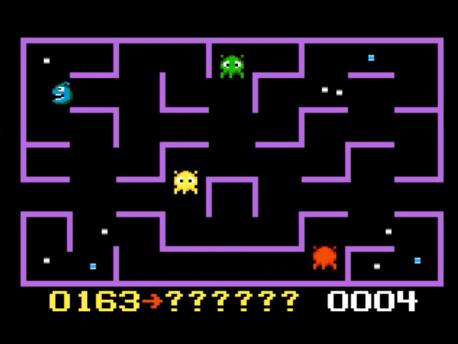 S.BAZ: K.C. Munchkin: Random Mazes (Atari 7800 Emulated) 163 points on 2016-02-19 00:39:28