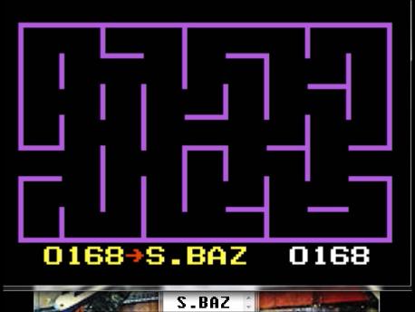 S.BAZ: K.C. Munchkin: Random Mazes [Invisible] (Atari 7800 Emulated) 168 points on 2016-02-19 00:31:07