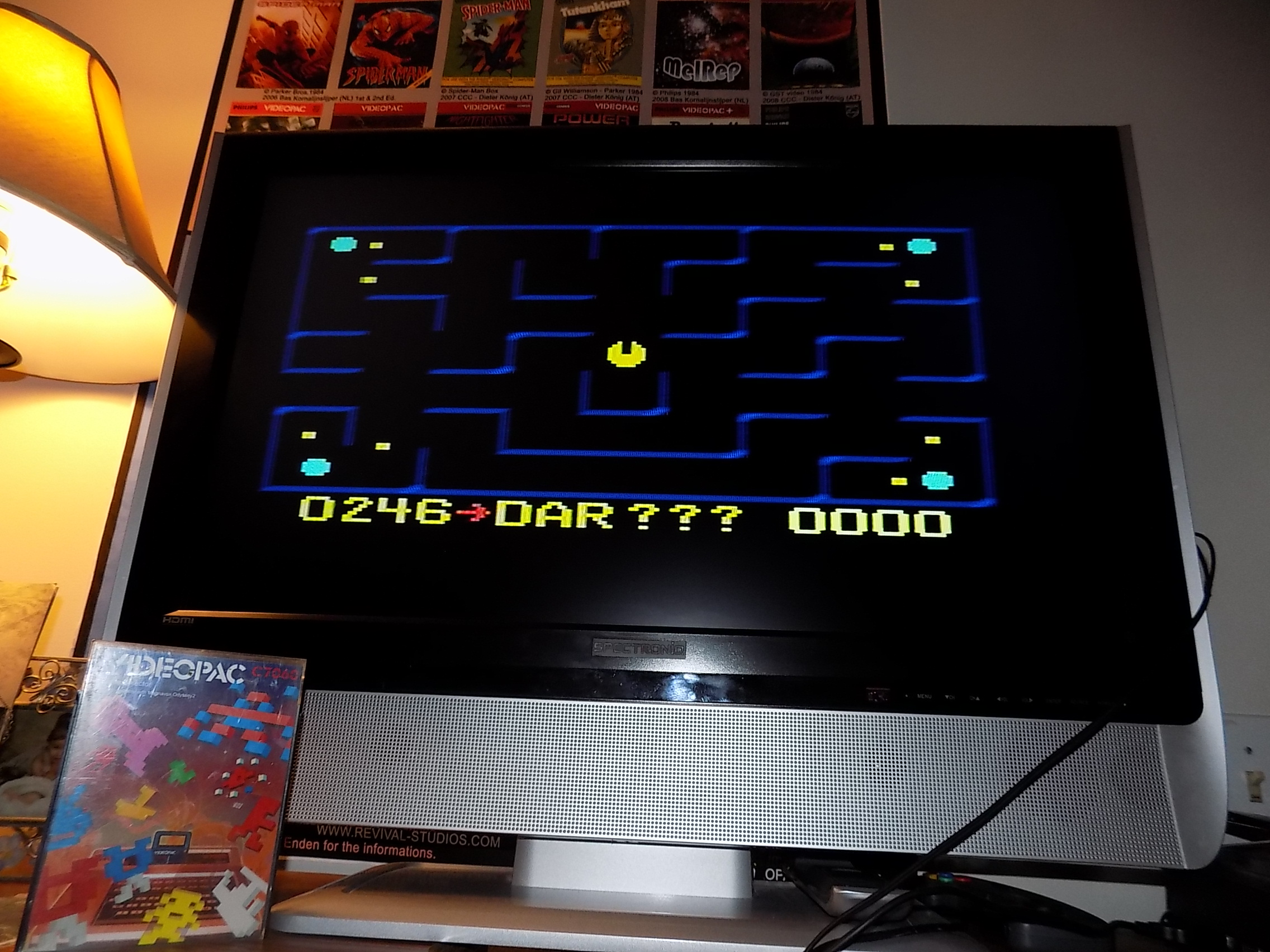darrin9999: K.C. Pac Man (Odyssey 2 / Videopac) 246 points on 2018-03-16 12:54:37
