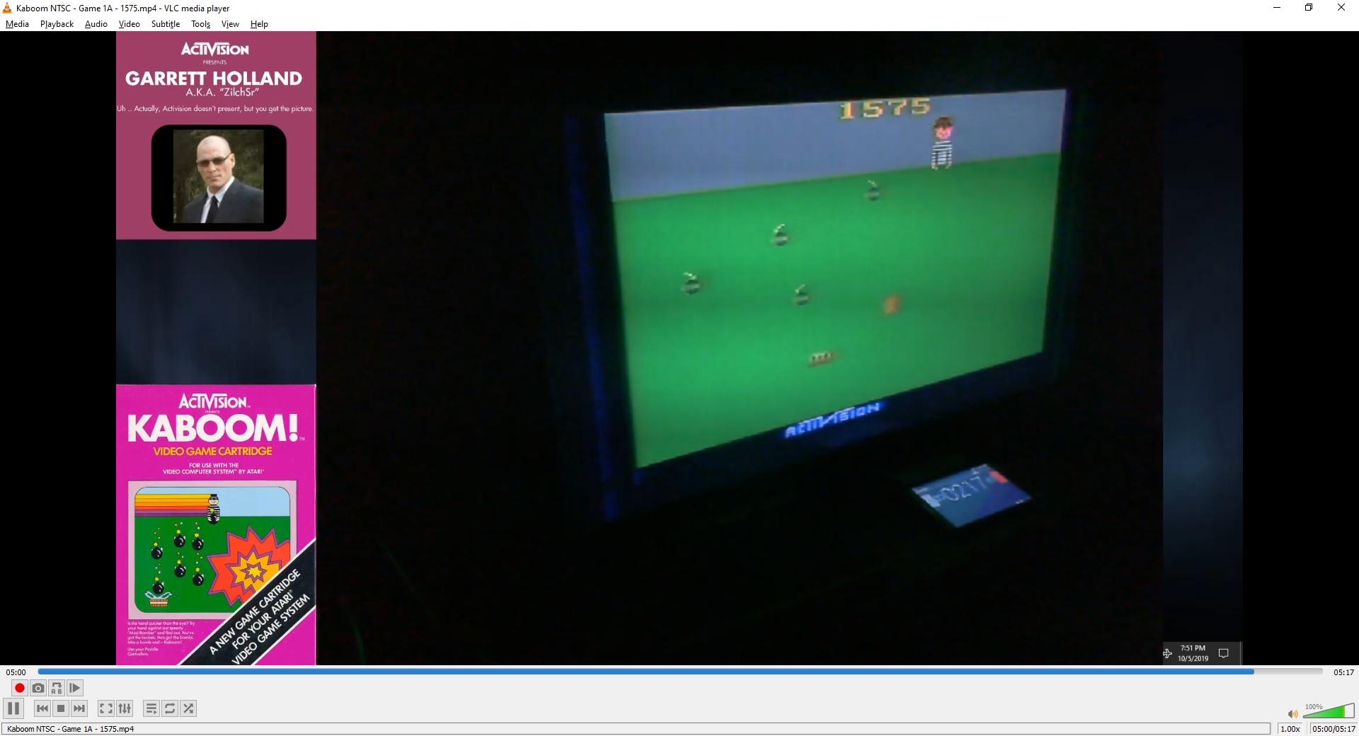 ZilchSr: Kaboom! (Atari 2600 Expert/A) 1,575 points on 2019-10-08 22:59:27