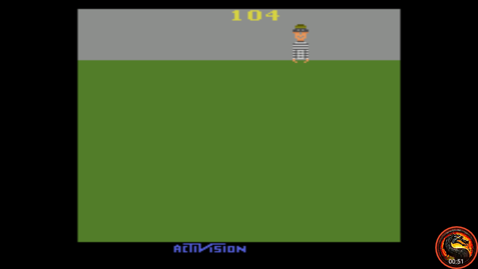 omargeddon: Kaboom!	 (Atari 2600 Emulated Expert/A Mode) 104 points on 2020-07-02 20:40:53