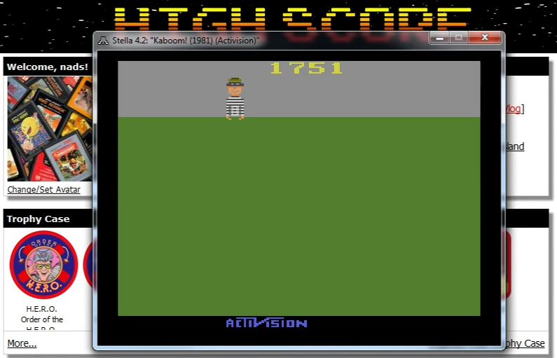 nads: Kaboom!	 (Atari 2600 Emulated Novice/B Mode) 1,751 points on 2015-12-04 14:45:38