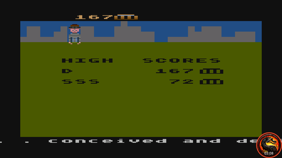 omargeddon: Kaboom! (Atari 5200 Emulated) 167 points on 2020-10-11 22:37:52