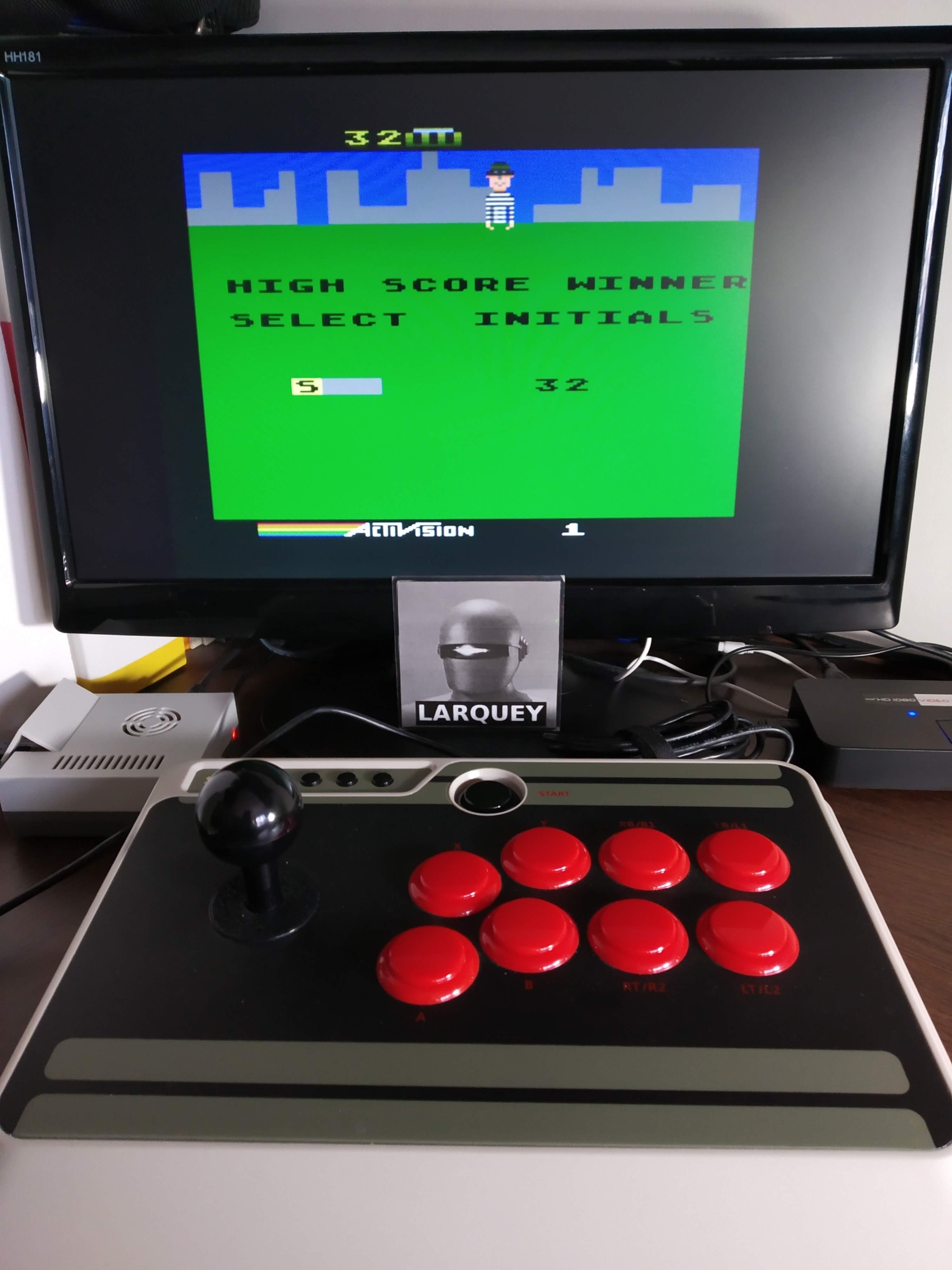 Larquey: Kaboom! (Atari 5200 Emulated) 32 points on 2019-11-16 09:22:05