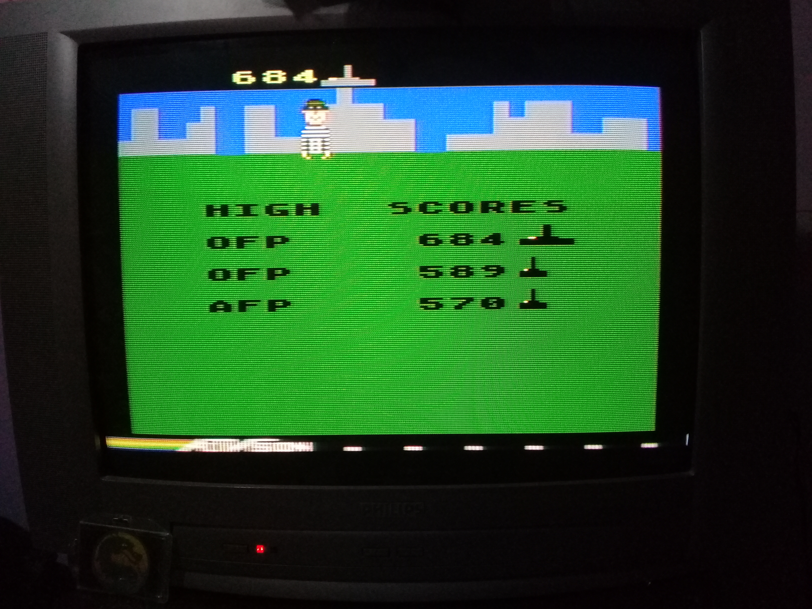 omargeddon: Kaboom: Large Buckets (Atari 400/800/XL/XE) 684 points on 2020-03-09 00:50:28