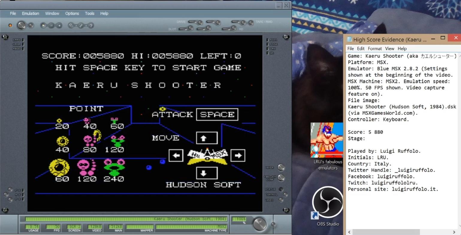 LuigiRuffolo: Kaeru Shooter (MSX Emulated) 5,880 points on 2020-08-05 11:08:40