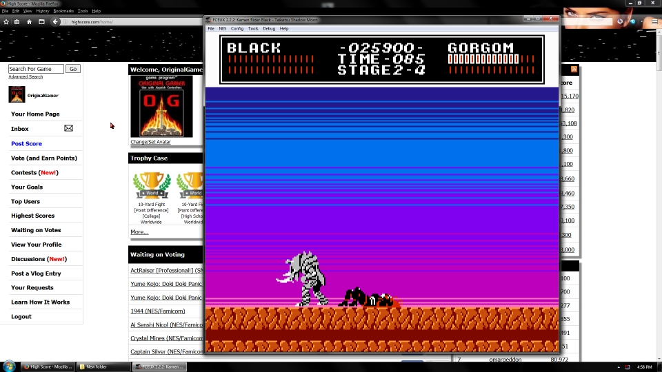 OriginalGamer: Kamen Rider Black - Taiketsu Shadow Moon (NES/Famicom Emulated) 25,900 points on 2016-09-23 03:34:39