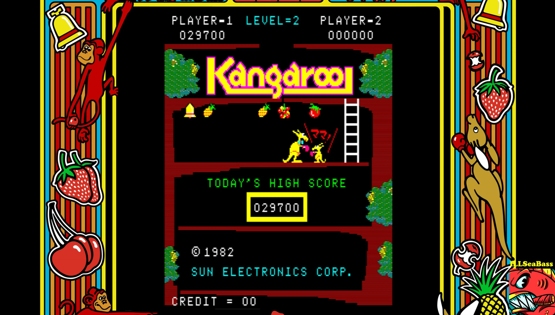 ILLSeaBass: Kangaroo (Arcade Emulated / M.A.M.E.) 29,700 points on 2017-03-15 22:13:11