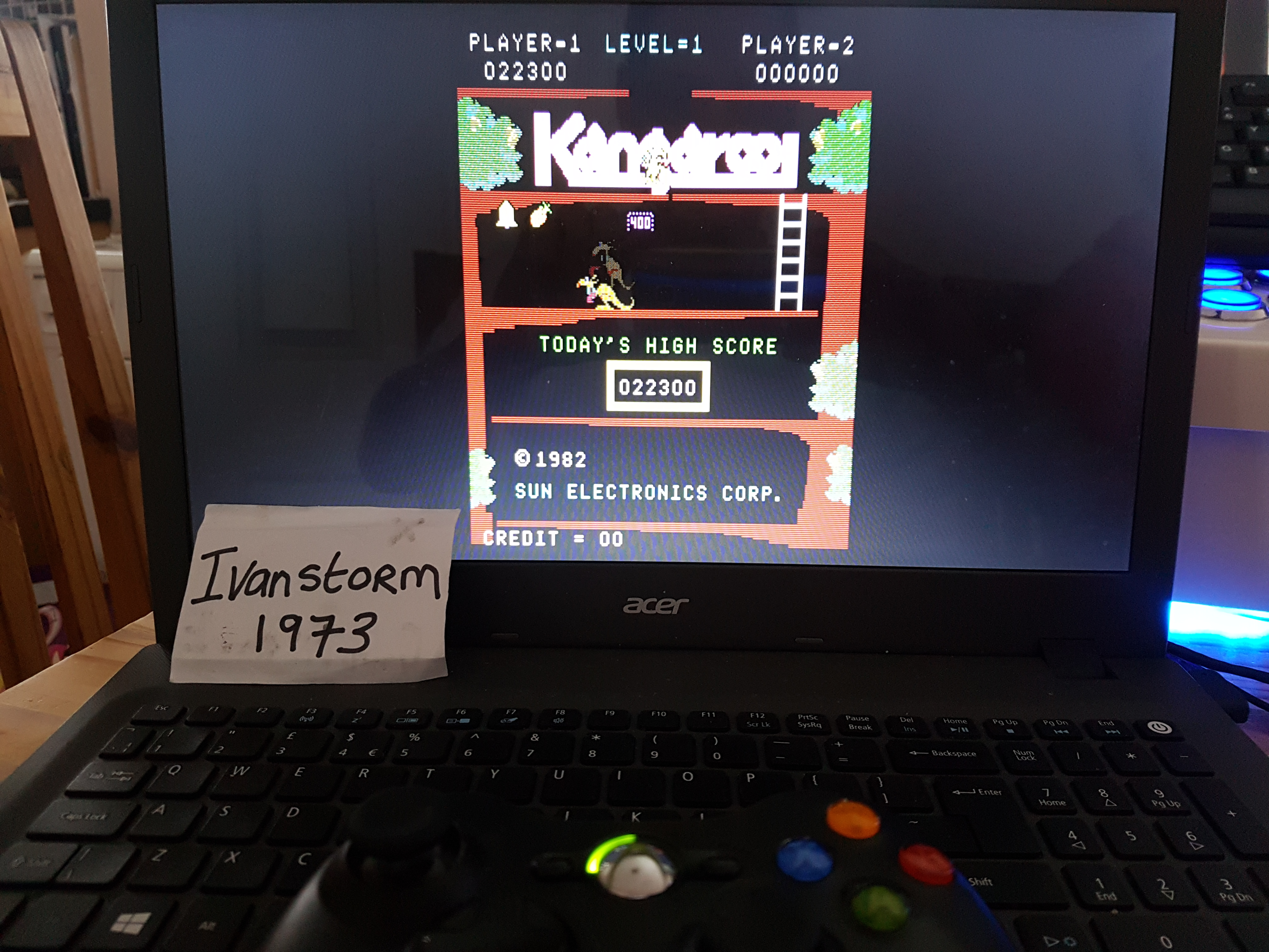 Ivanstorm1973: Kangaroo (Arcade Emulated / M.A.M.E.) 22,300 points on 2018-01-22 07:32:28