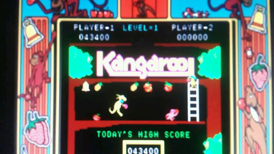 BabofetH: Kangaroo (Arcade Emulated / M.A.M.E.) 43,400 points on 2020-06-20 00:40:58