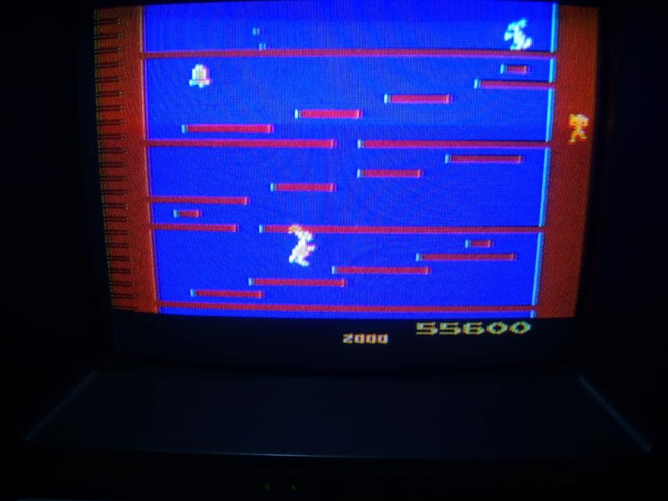 BabofetH: Kangaroo (Atari 2600) 55,600 points on 2020-06-12 15:05:41