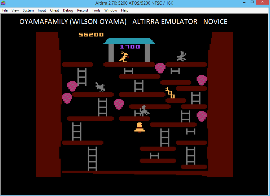 oyamafamily: Kangaroo: Novice (Atari 5200 Emulated) 56,200 points on 2016-04-28 18:39:09