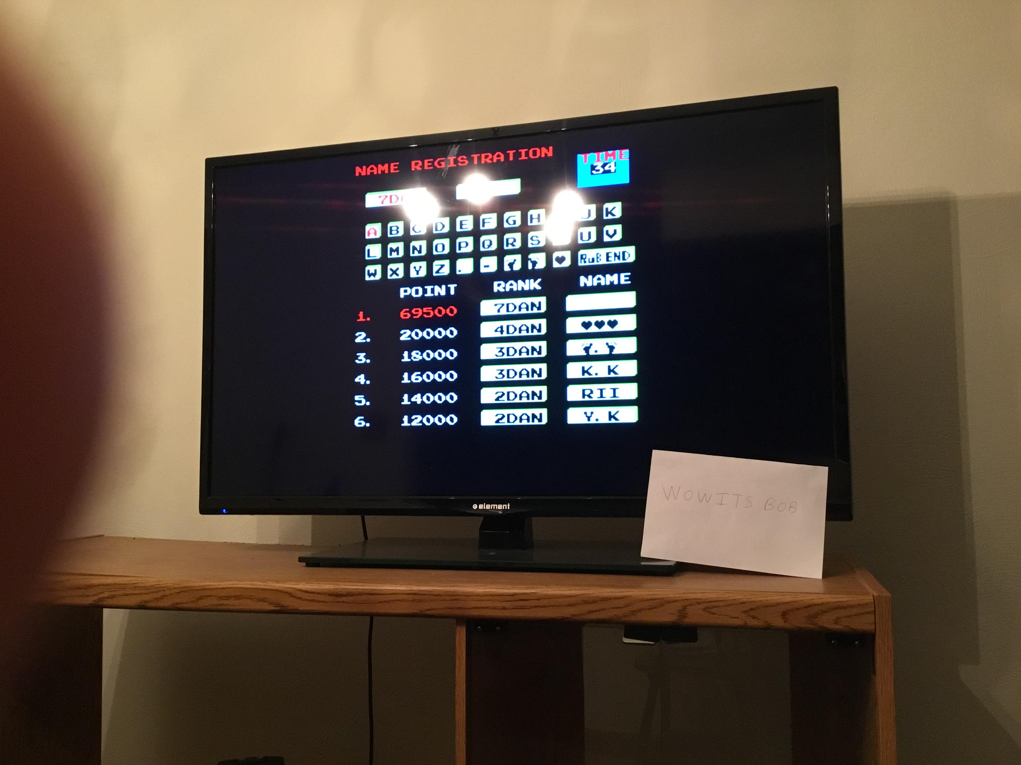 Karate Champ 69,500 points
