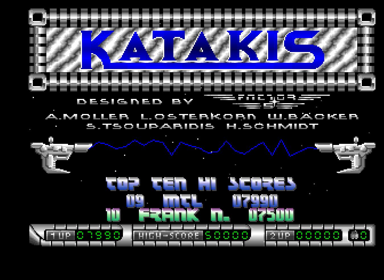 Mantalow: Katakis (Amiga Emulated) 7,990 points on 2016-07-21 07:40:28