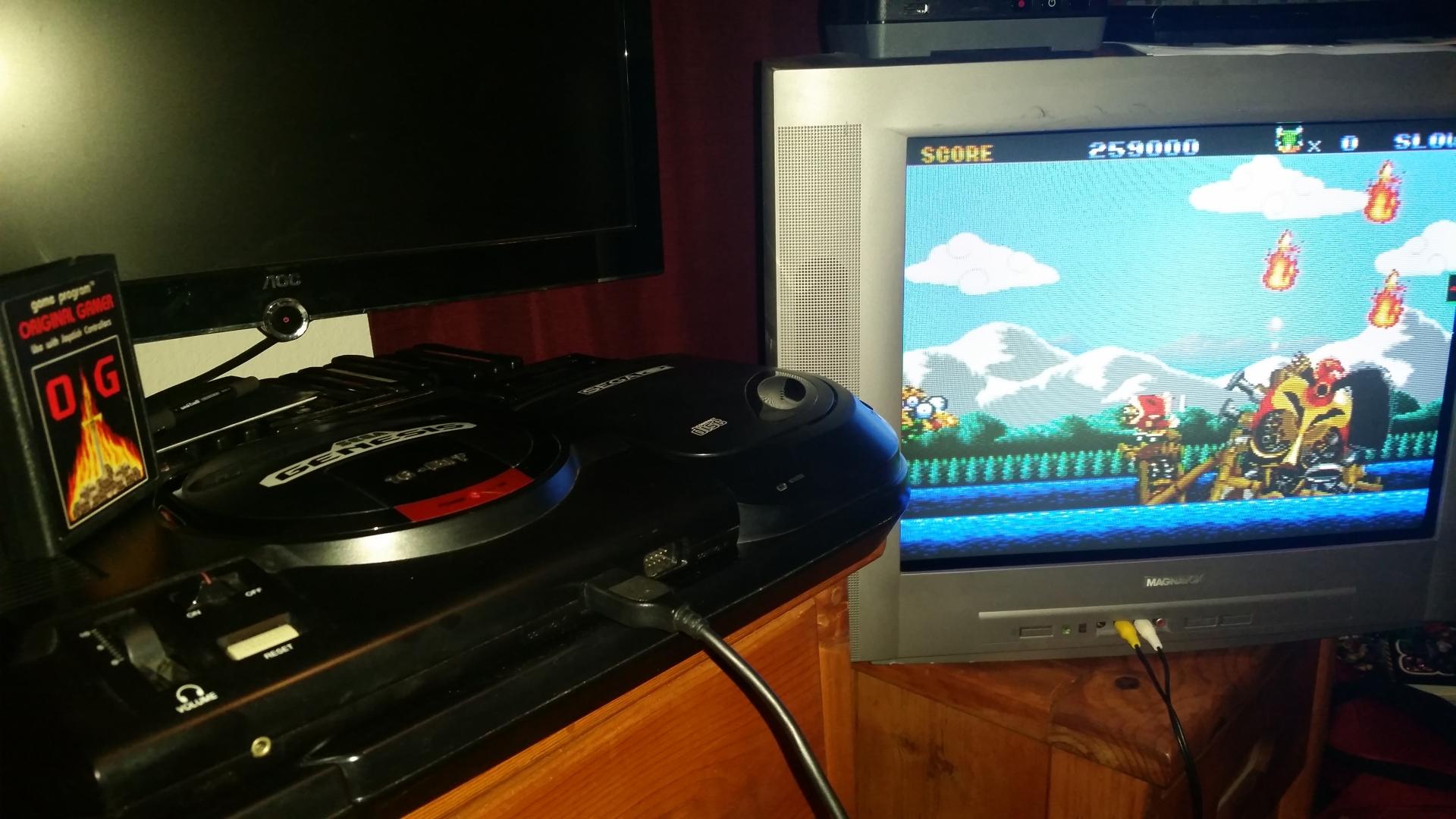 OriginalGamer: Keio Flying Squadron [easy] (Sega Genesis / MegaDrive) 259,000 points on 2016-10-18 19:51:42