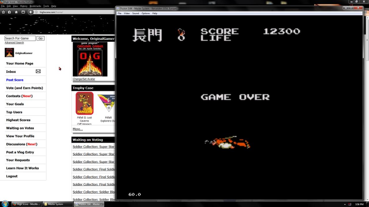 OriginalGamer: Kenseiden (Sega Master System Emulated) 12,300 points on 2018-02-19 18:17:43