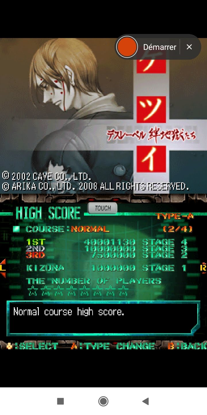 Larquey: Ketsui: Death Label [Normal] (Nintendo DS Emulated) 40,001,130 points on 2020-09-20 13:15:35
