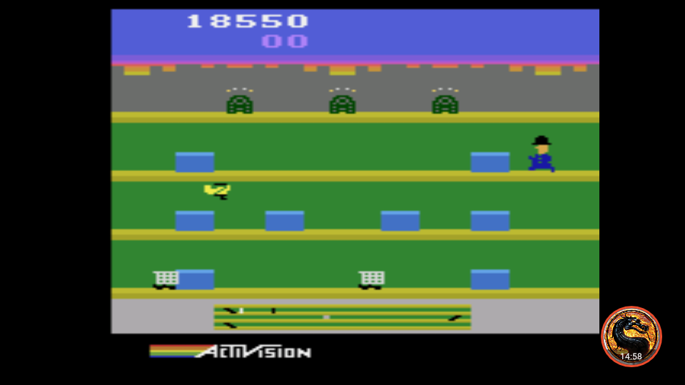 omargeddon: Keystone Kapers (Atari 2600 Emulated Expert/A Mode) 18,550 points on 2019-03-07 12:51:40