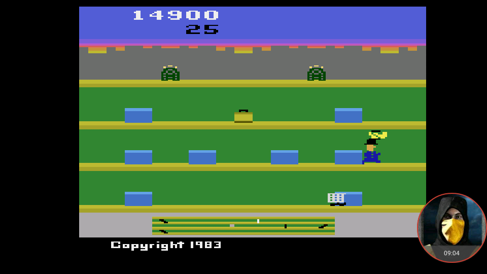 omargeddon: Keystone Kapers (Atari 2600 Emulated Novice/B Mode) 14,900 points on 2018-02-25 22:00:17