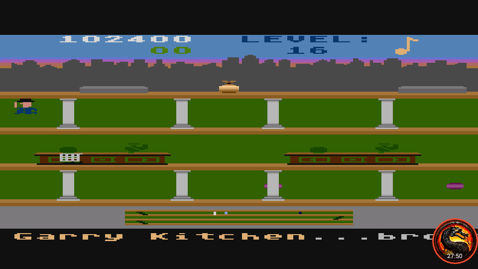 omargeddon: Keystone Kapers (Atari 400/800/XL/XE Emulated) 102,400 points on 2020-03-10 00:56:21