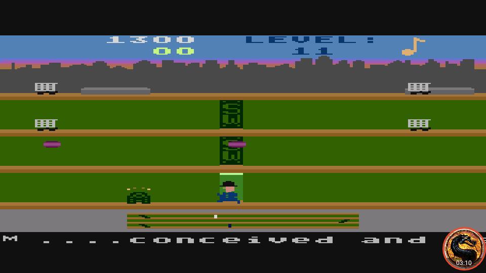 omargeddon: Keystone Kapers: Skill 11 (Atari 400/800/XL/XE Emulated) 1,300 points on 2019-04-01 15:19:24