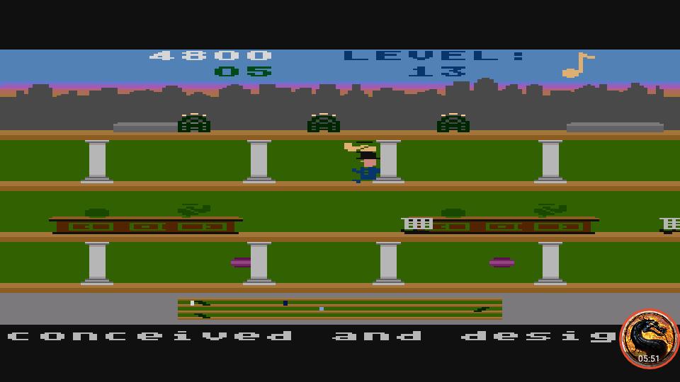 omargeddon: Keystone Kapers: Skill 12 (Atari 400/800/XL/XE Emulated) 4,800 points on 2019-04-01 15:16:52