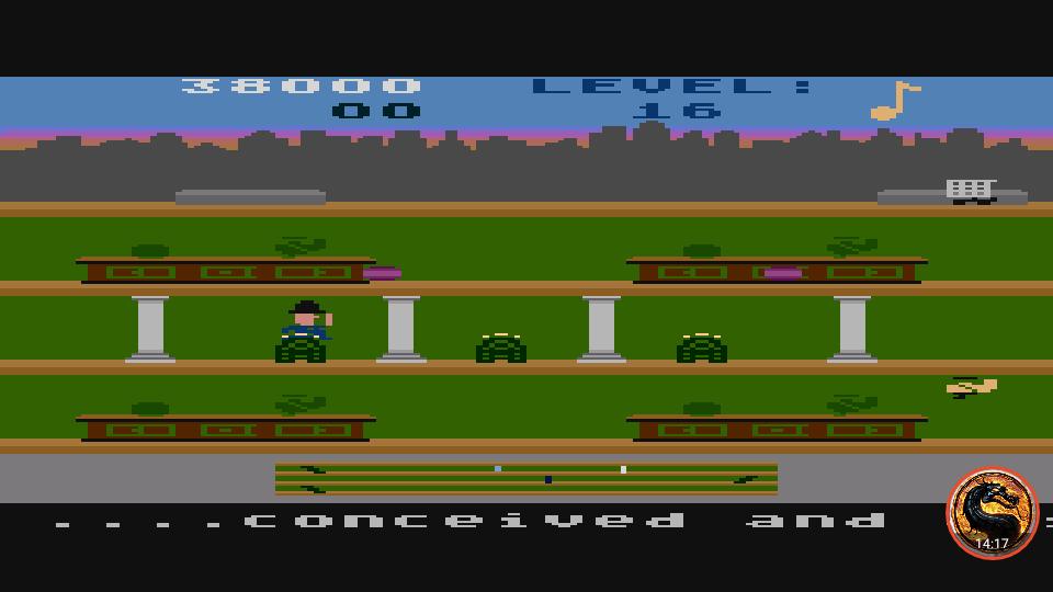 omargeddon: Keystone Kapers: Skill 13 (Atari 400/800/XL/XE Emulated) 38,000 points on 2019-04-01 07:25:29