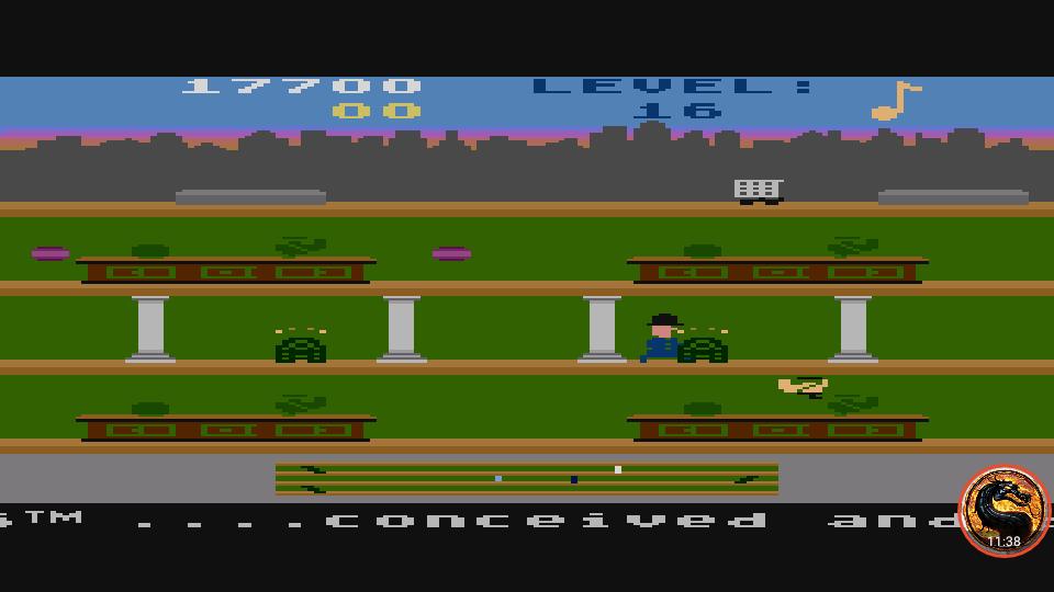 omargeddon: Keystone Kapers: Skill 14 (Atari 400/800/XL/XE Emulated) 17,700 points on 2019-04-07 16:10:10