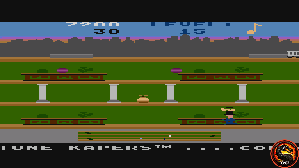 omargeddon: Keystone Kapers: Skill 14 (Atari 5200 Emulated) 7,200 points on 2020-04-02 10:49:28