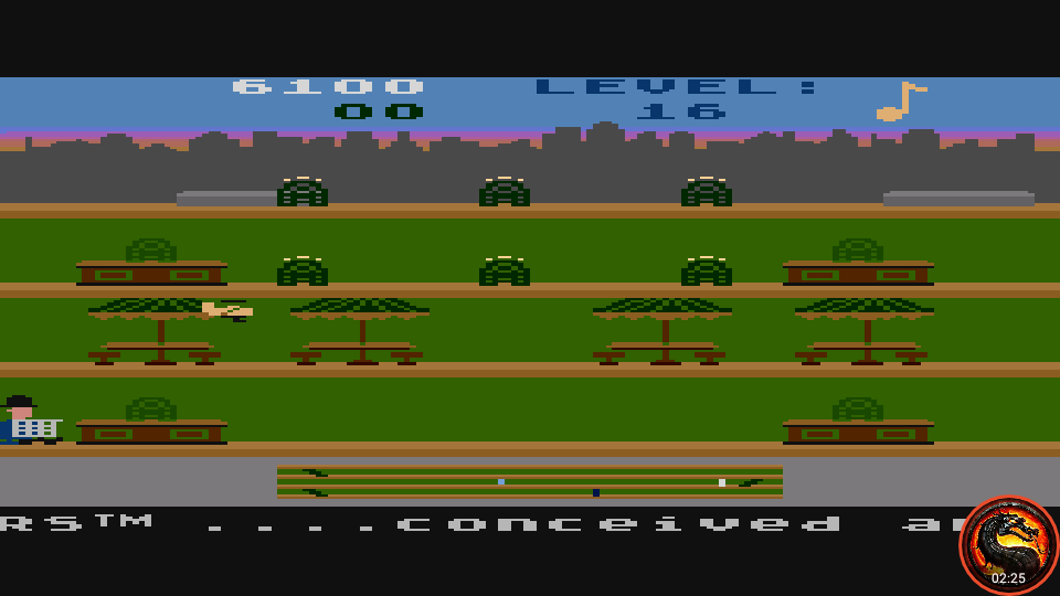 omargeddon: Keystone Kapers: Skill 15 (Atari 5200 Emulated) 6,100 points on 2020-04-02 11:04:20