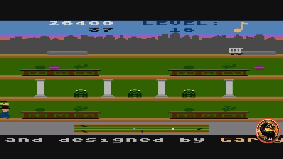 omargeddon: Keystone Kapers: Skill 16 (Atari 400/800/XL/XE Emulated) 26,400 points on 2019-04-07 22:07:38