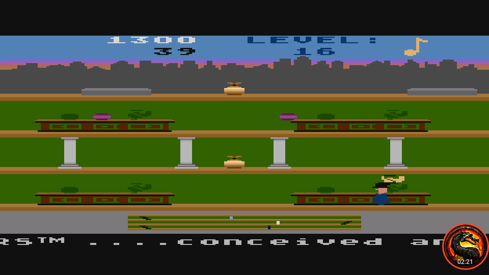 omargeddon: Keystone Kapers: Skill 16 (Atari 5200 Emulated) 1,300 points on 2020-04-02 11:05:06