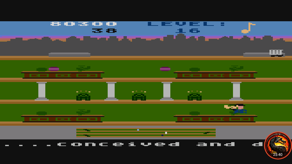 omargeddon: Keystone Kapers: Skill 4 (Atari 400/800/XL/XE Emulated) 80,300 points on 2020-03-10 22:20:47