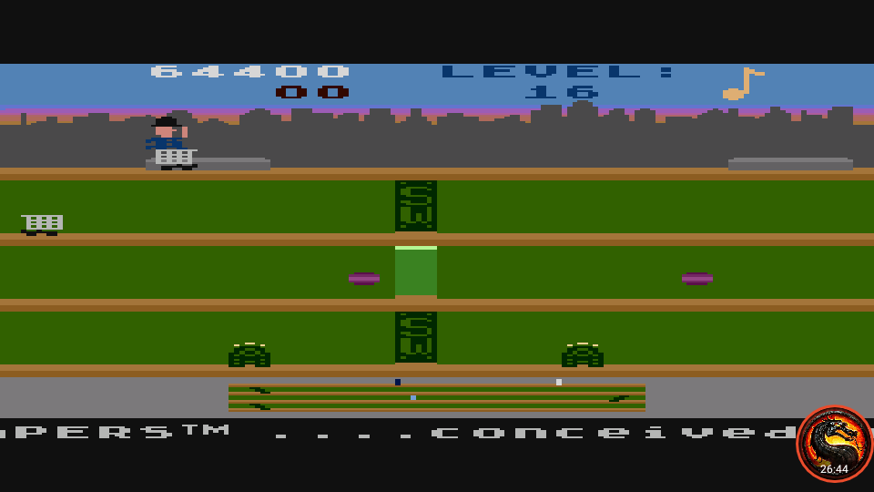 omargeddon: Keystone Kapers: Skill 4 (Atari 5200 Emulated) 64,400 points on 2020-07-05 02:28:21