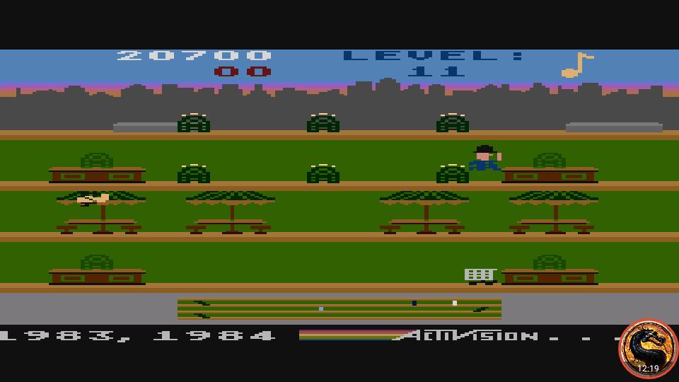 omargeddon: Keystone Kapers: Skill 6 (Atari 400/800/XL/XE Emulated) 20,700 points on 2019-03-03 17:10:06