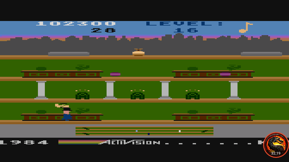 omargeddon: Keystone Kapers: Skill 6 (Atari 5200 Emulated) 102,300 points on 2020-06-06 20:38:06